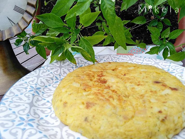 Tortilla vegana de patata